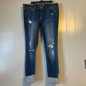 Hollister ripped skinny jeggings/jeans. Size 7